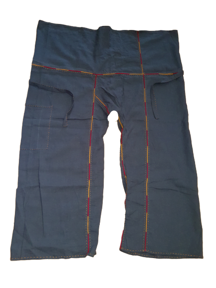 Handmade Hemp Fishermen Pants with embroidery