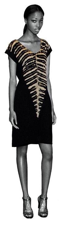 Black zebra Dress