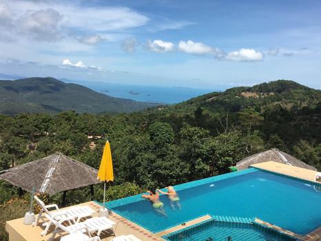 Mountain view pool