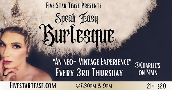 Speakeasy Burlesque Monthly recurring Ba
