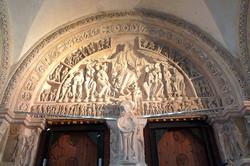Cathédrale Saint-Lazare d'Autun - tympan narthex - Photographie de E
