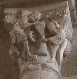 Sainte-Marie-Madeleine de Vézelay - chapiteau moulin - Photographie de E