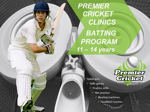 Batting Intensive Program 11 - 14 years (15 & 16 April 2021)