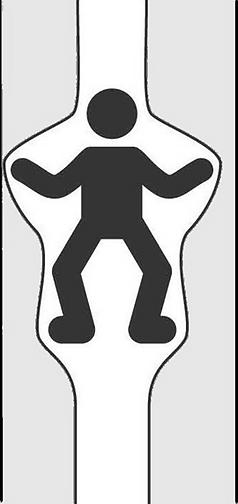 Vertikale Rettungsrutsche bremsen
