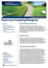 PGGW Penncross Creeping Bentgrass Brochu