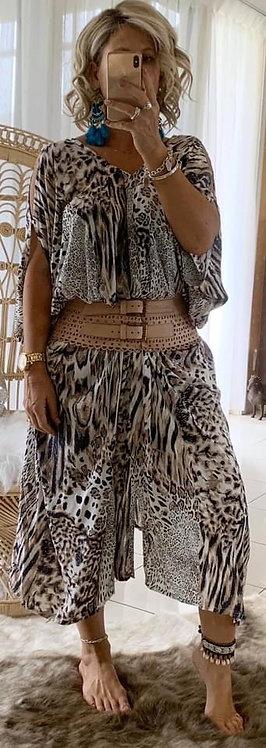 Kaftan - Chocolate Leopard
