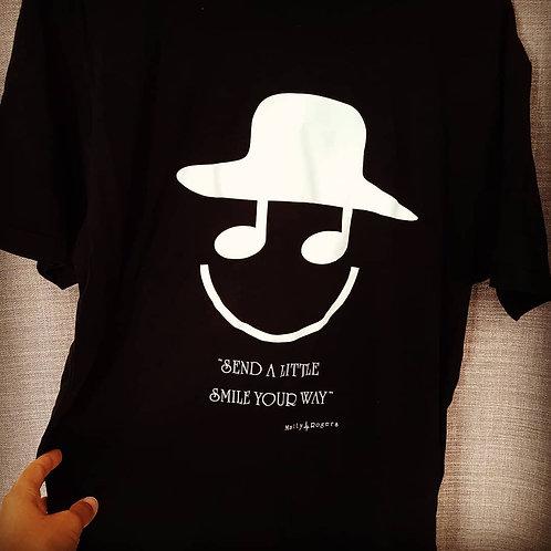 Bamboo / Cotton blend  T-shirt - Smile print (black)