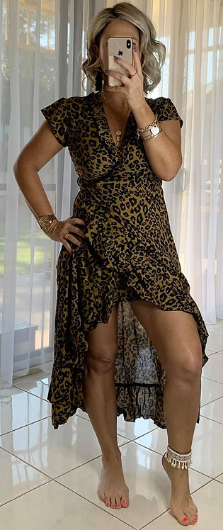 Ella Wrap - Latte Leopard *****