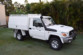 Aluminium canopy for 79 series single cab landcruiser