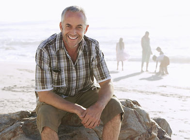 Happy man after ACT / acceptance and commitment therapy with therapists / psychologists in Kensington, near Norwood, Adelaide