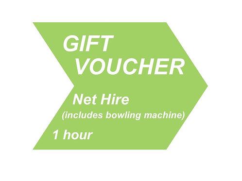 Net hire (including bowling machine) - 1 hour