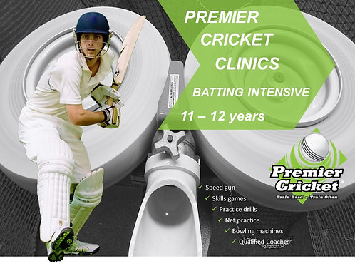 Batting Intensive Program 11 - 12 years (17 & 18 December 2020)