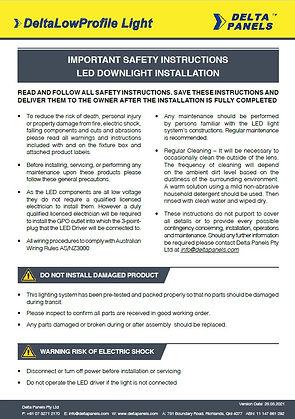 DeltaLowProfile Light_Installation&Safet