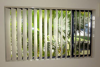 Vertical blinds in Brisbane northside location