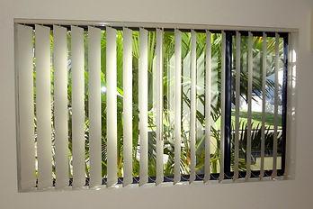 Vertical blinds in Brisbane northside location