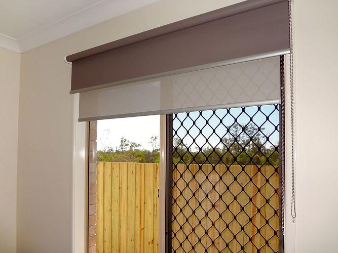Interior block-out roller blinds in Brisbane northside location
