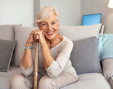Happy woman after seeing a chronic pain management psychologist / therapist in Kensington, near Norwood, Adelaide
