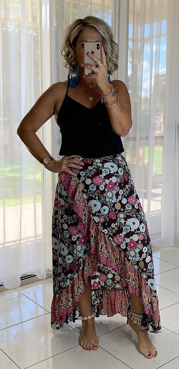 Halo Wrap Skirt - Coco Chocolate