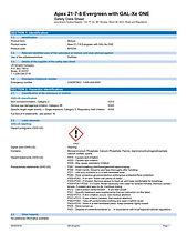 APEX Evergreen 21-3-.4-6.6 (8-9mth) SDS.