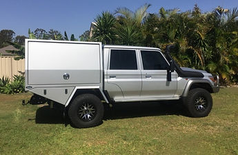 Aluminium canopy for 79 series dual cab landcruiser
