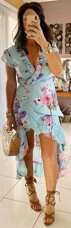 Ella Wrap - Denise Aqua Floral