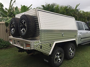 Aluminium canopy for 100 series landcruiser