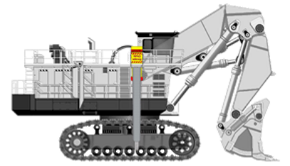 Emergency egress systems for mining shovels