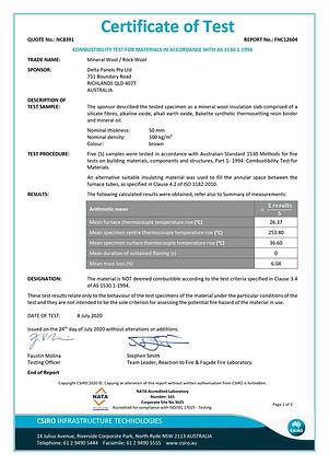 Mineral Wool / Rock Wool Combustability Test