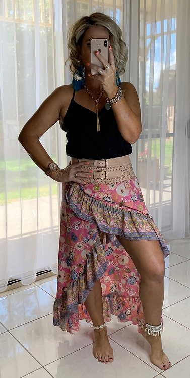 Halo Wrap Skirt - Coco Pink