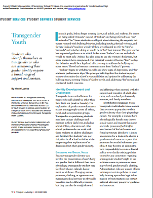 Leadership: Transgender Youth