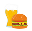beer-and-burger-flat-cartoon-vector-1789