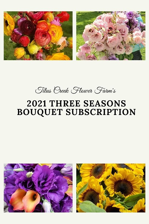 2021 Three Seasons Bouquet Subscription