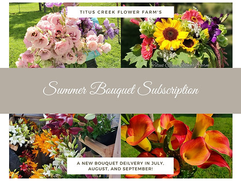 2021 Summer Bouquet Subscription