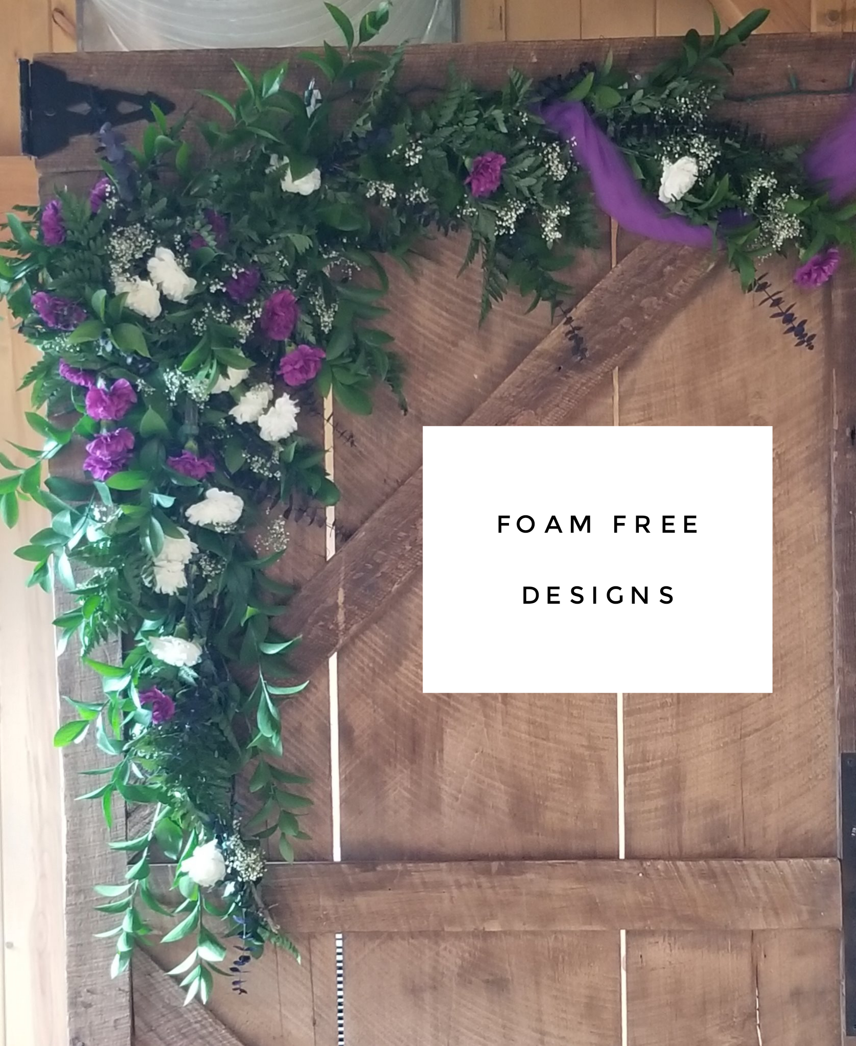 Foam free floral designs
