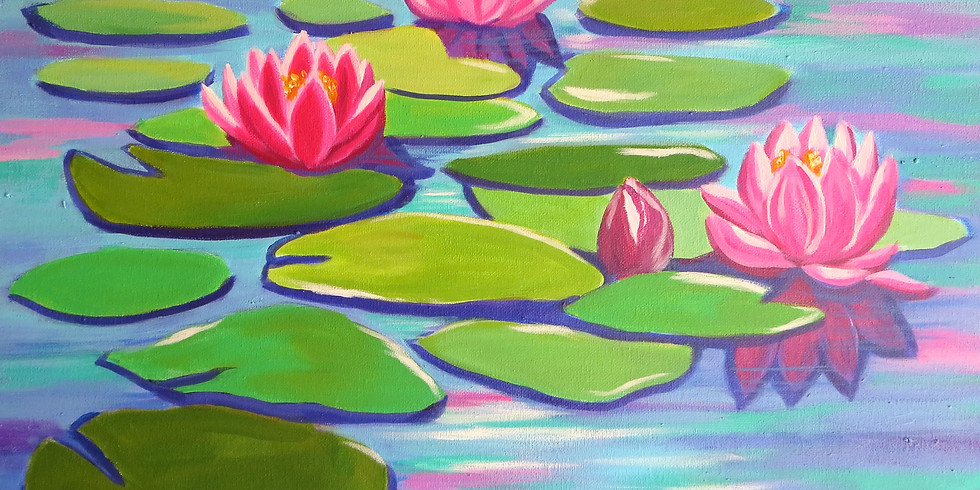 Painting for a Purpose - Waterlilies
