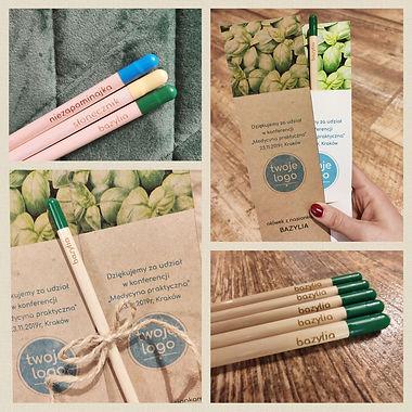 ołówki z nasionkami