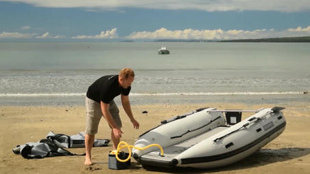 TAKACAT Setup on beach