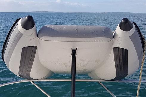 Takacat 260 over the bow rails.jpg