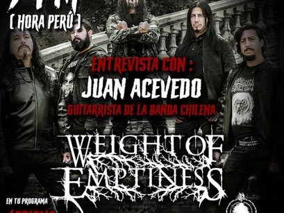 WEIGHT OF EMPTINESS: Entrevista ao vivo nesta sexta no Programa Legions of Darkness!