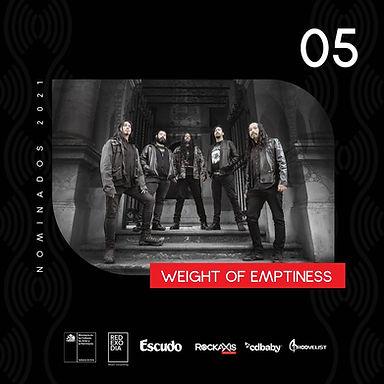 WEIGHT OF EMPTINESS: Banda nominada en la categoría de mejor Álbum Extremo del Premio Escuchar