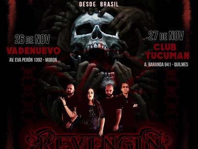 REVENGIN: Anunciada mini tour na Argentina