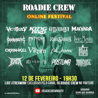 REVENGIN: Confirmed at the Roadie Crew festival in February