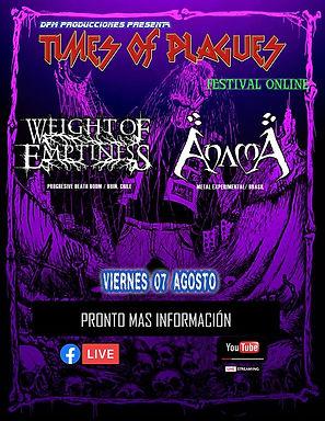 EM Music Management: AnamA e Weight of Emptiness confirmados em festival chileno!