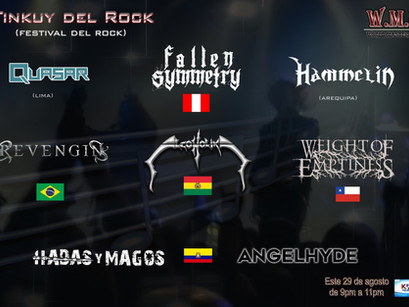 EM Music Management: Revengin e Weight of Emptiness confirmados em festival peruano!
