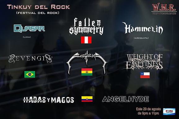 EM Music Management: Revengin and Weight of Emptiness confirmed at Peruvian festival!