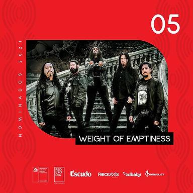 WEIGHT OF EMPTINESS: Nominados como el mejor show, en importante premio de la música chilena