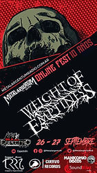 WEIGHT OF EMPTINESS: Confirmed at Metal ArgentuM Online Fest!