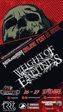 WEIGHT OF EMPTINESS: Confirmed at Metal ArgentuM Online Fest!