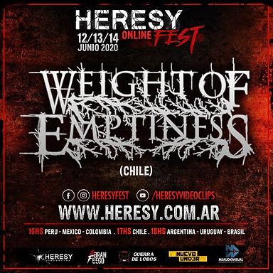 WEIGHT OF EMPTINESS: ¡Confirmado en Heresy Online Fest!