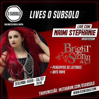 BRIGHTSTORM: Anunciada live para o site O Subsolo!
